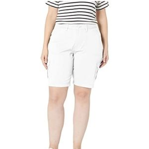 Lee White Relaxed Fit Bermuda Shorts NWT
